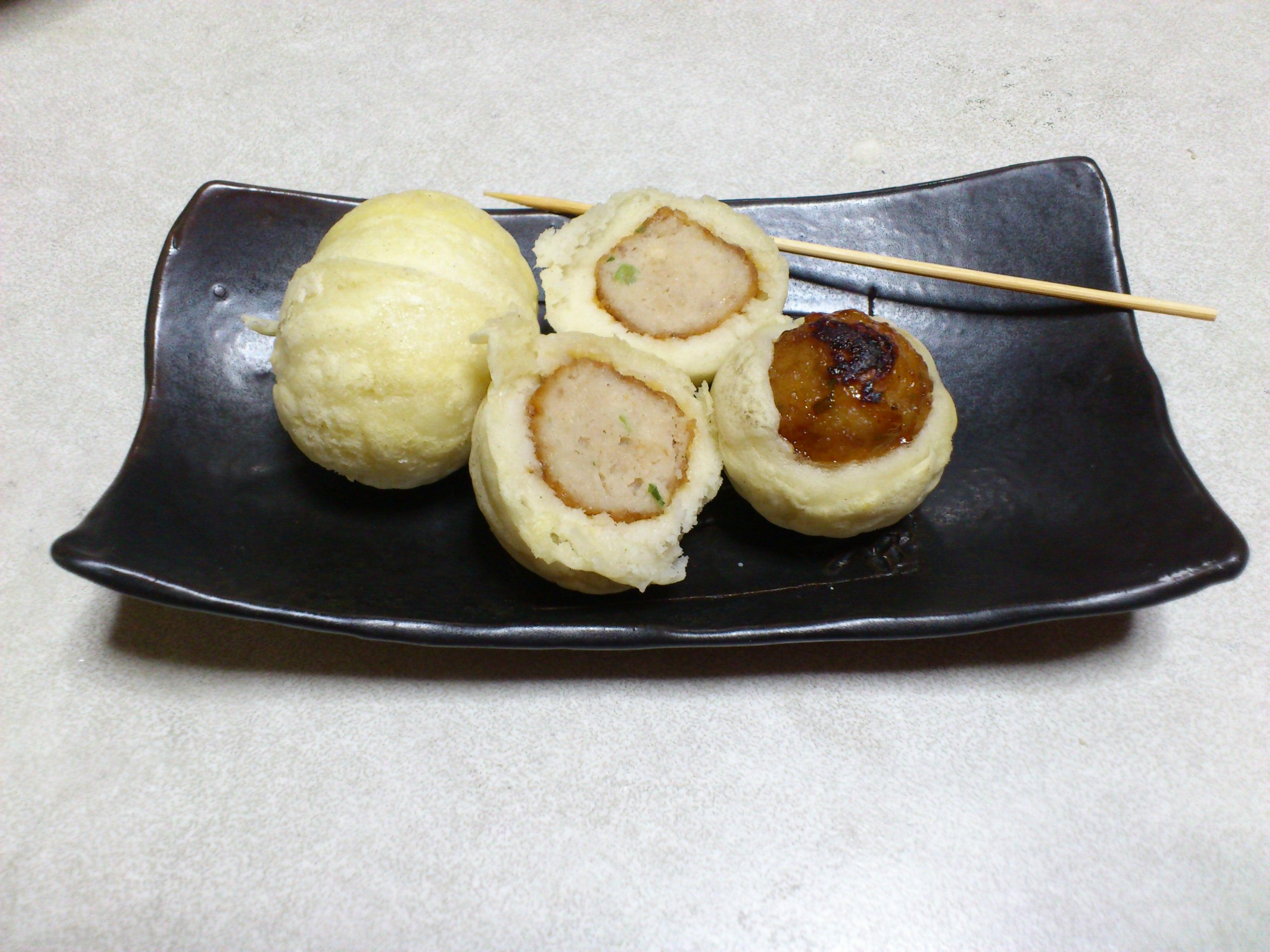 【たこ焼きみたいなチビ肉まん】小麦粉不使用の簡単レシピ ...