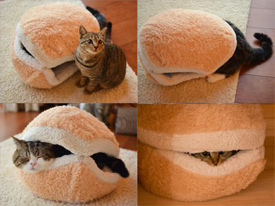 Dog Bed Hamburger