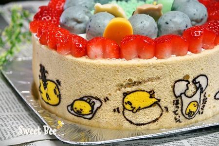 すみっこぐらし&ぐでたま誕生日ケーキ